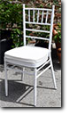 "white metall garten chair ""Chiavari"""