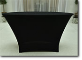standing table oval with black Cover